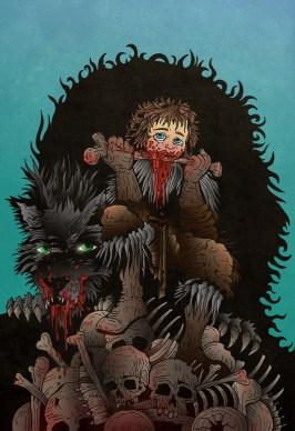 Rickon Stark, en Skagos