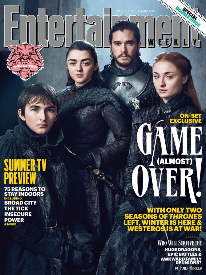 Bran, Arya, Jon y Sansa Stark