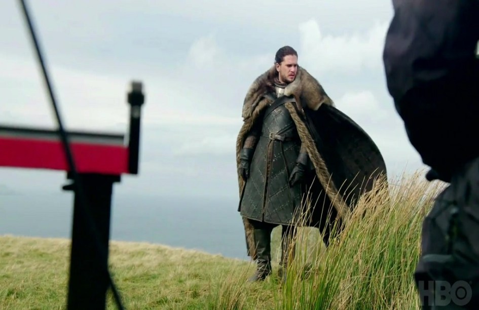 Kit Harington como Jon Snow rodando la séptima temporada de Juego de Tronos