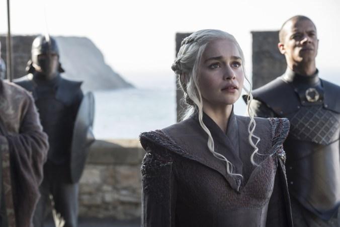 Emilia Clarke como Daenerys Targaryen en la séptima temporada de Game of Thrones