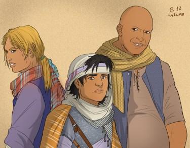 Quentyn Martell y sus acompañantes