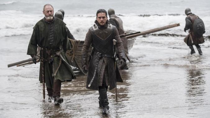 Davos y Jon Nieve desembarcan en Rocadragón