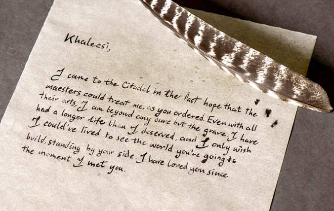 Carta de Jorah a Daenerys