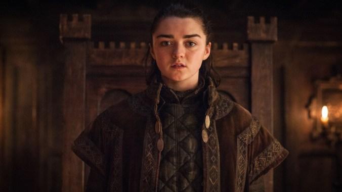 Arya Stark como Walder Frey en Juego de Tronos