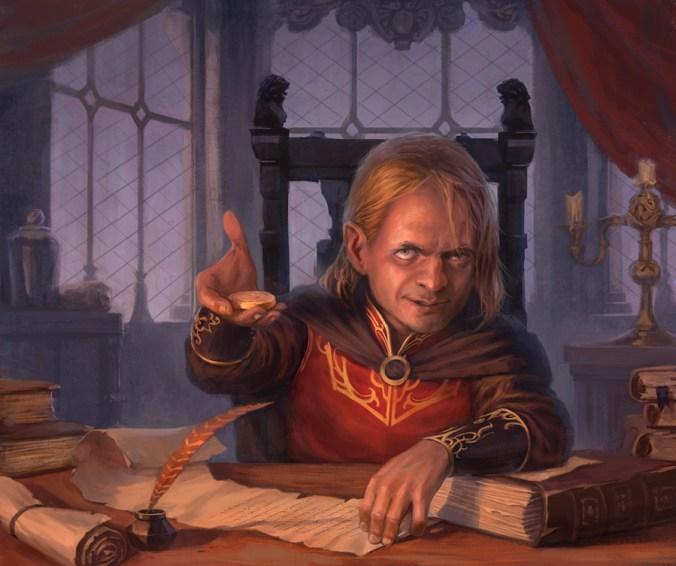 Ilustración de Tyrion Lannister como Mano del Rey