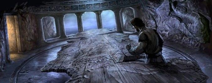 Stannis en la mesa de Aegon en Rocadragón