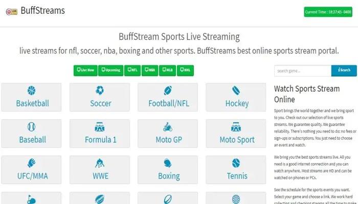 buff stream