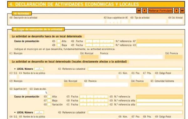modelo 36 declaracion economicas y locales