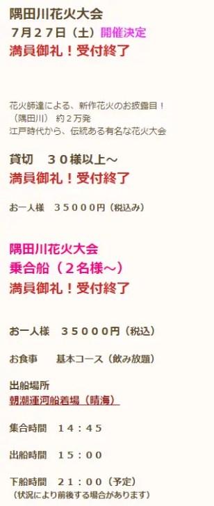 隅田川の花火大会とは