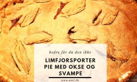Limfjordsporter pie med oksekød og svampe