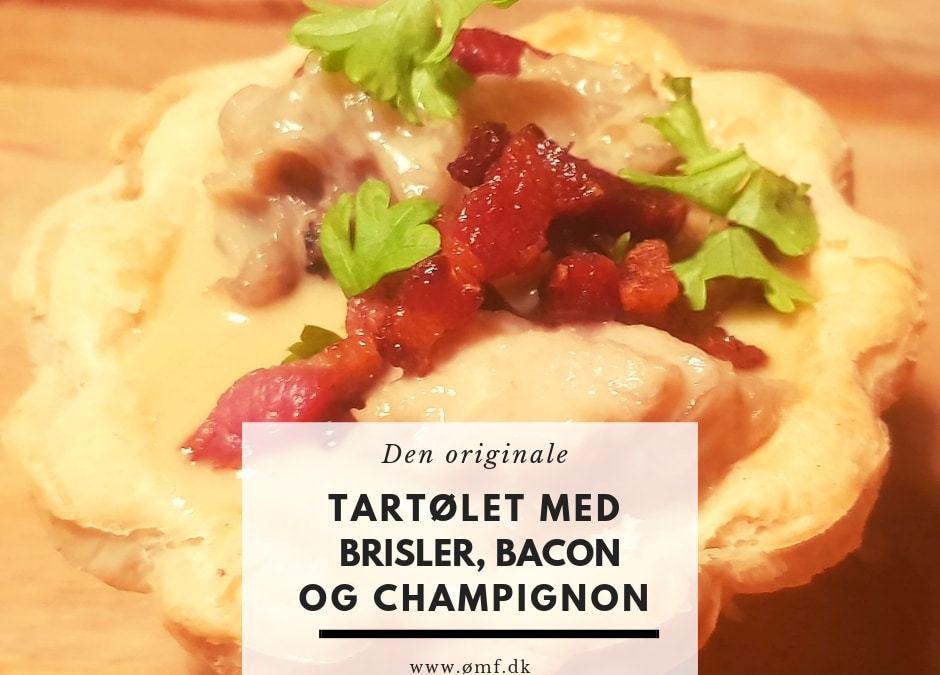 Tartøletter med brisler, bacon og champignon