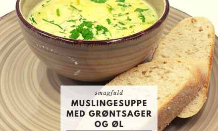 Muslingesuppe med grøntsager og øl