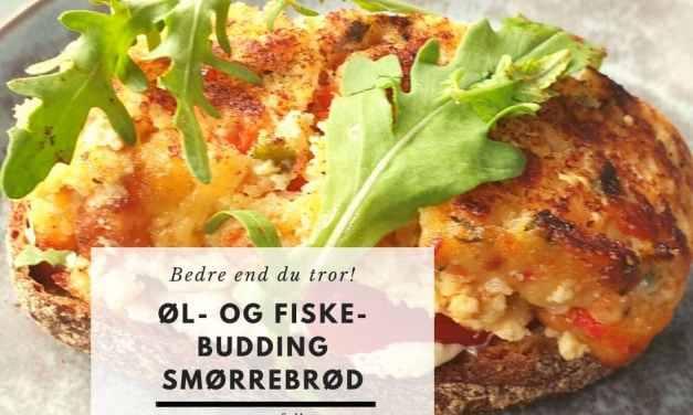 Øl- og Fiskebudding smørrebrød