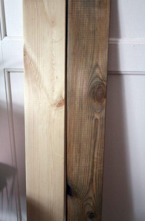 Holz künstlich altern lassen-DIY