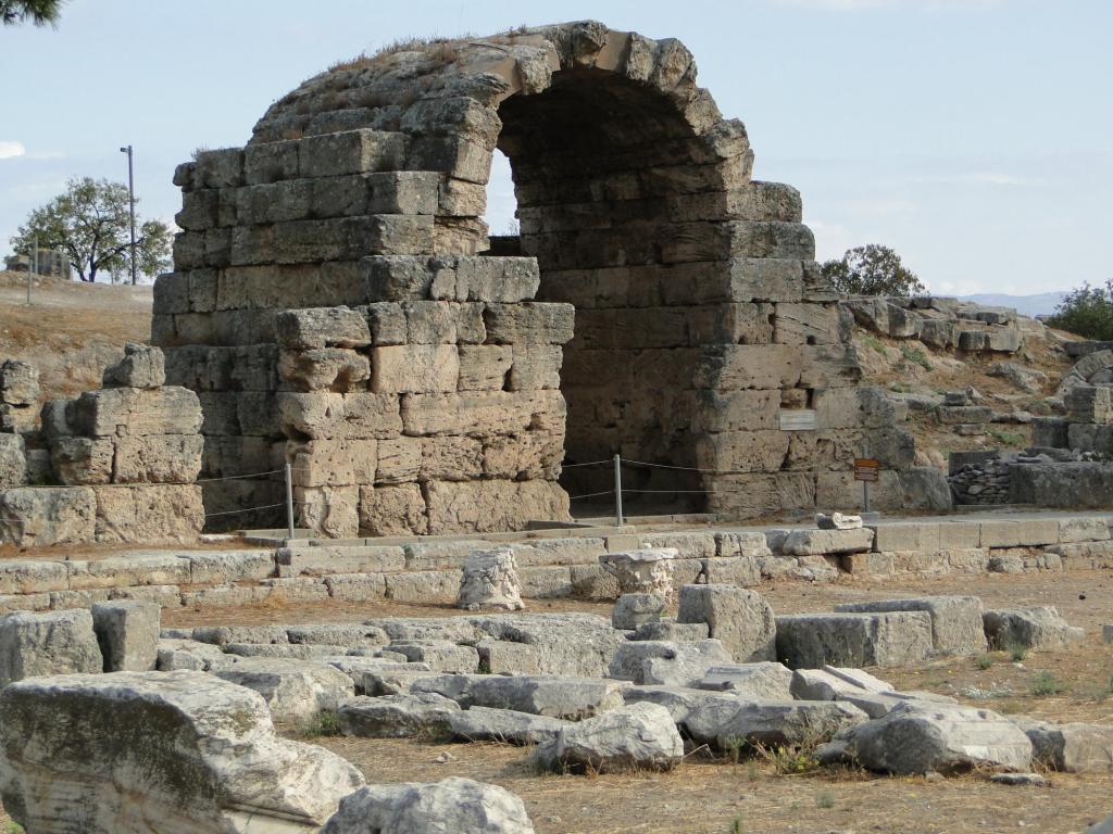 Starożytny Korynt - fragment agory