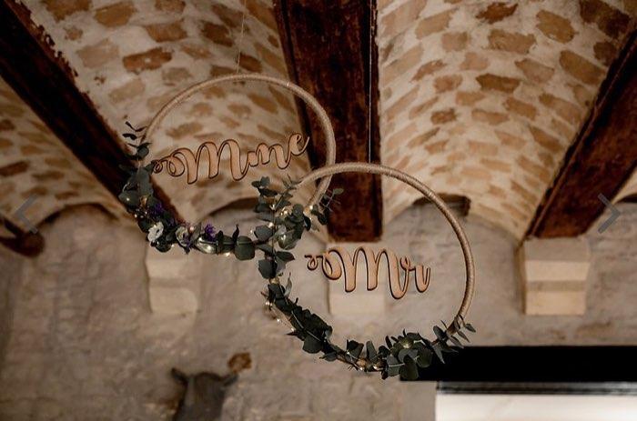 décoration mariage, monsieur et madame