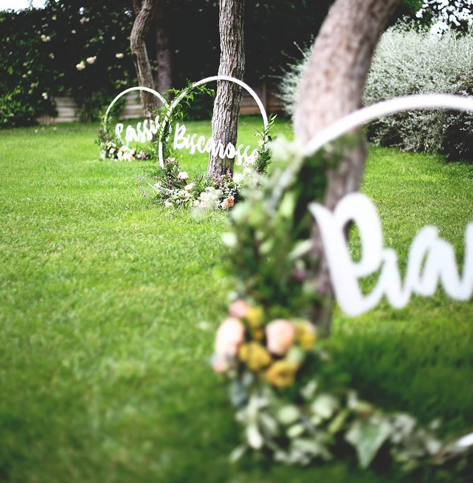 décoration mariage, cercle bois