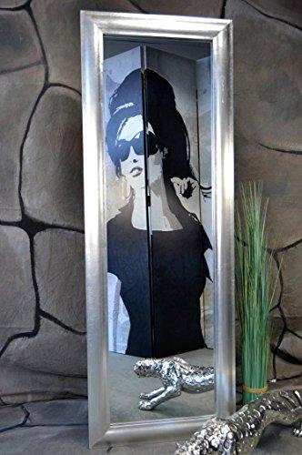 Livitat® Wandspiegel Spiegel MODERN Badspiegel mit Blattgold Blattsilber SX (140 x 50 cm, Silber )