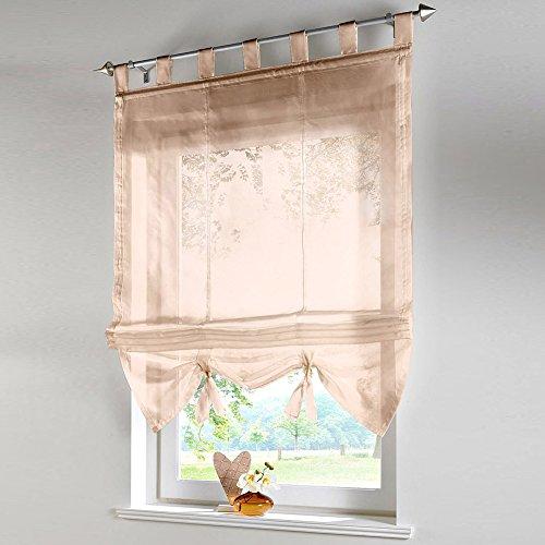 Raffrollo Schlaufen Gardine Vorhang Transparent für Wohnzimmer Hochzeit Party Deko LianLe