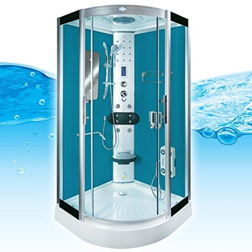 AcquaVapore DTP8046-5101 Dusche Duschtempel Komplett Duschkabine -Th 90x90XL