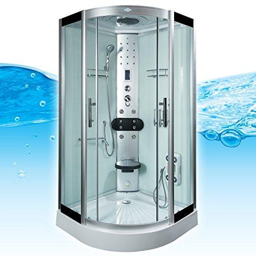 AcquaVapore DTP8058-0001 Dusche Duschtempel Komplett Duschkabine -Th. 80x80