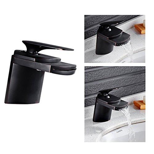 Auralum® Wasserhahn Wasserfall Einhandmischer Waschtisch Waschbecken Armatur Badarmaturen