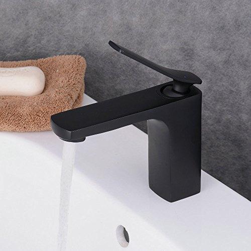 Beelee Malerei Schwarz Wasserhahn Einhandmischer Waschtischarmatur Bad Waschbecken Mischbatterie BadArmatur für Bad/Badezimmer