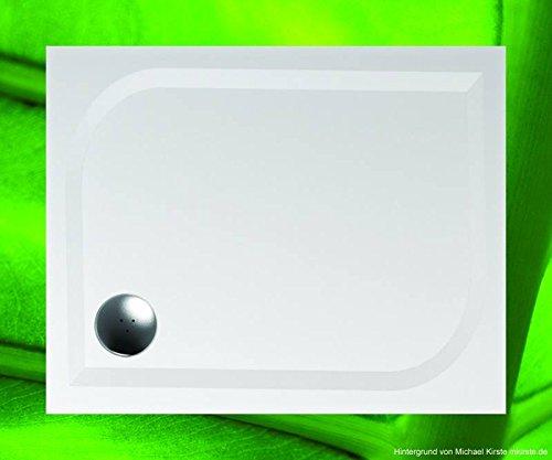 Duschwanne 100x80 Mineralguss - Mineralgussbecken 90x100 x3 cm, Weiss