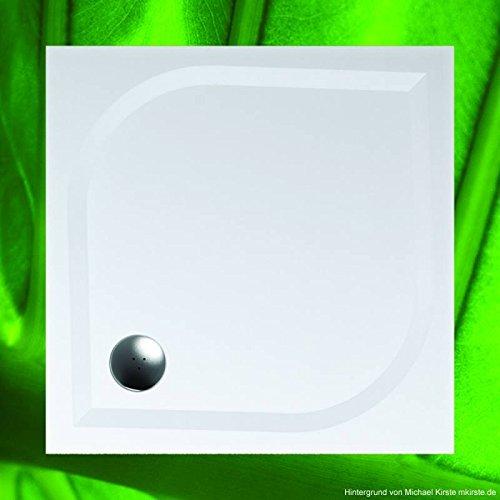 Duschwanne 90x90 Mineralguss - Mineralgussbecken 90x90 x3 cm, Weiss