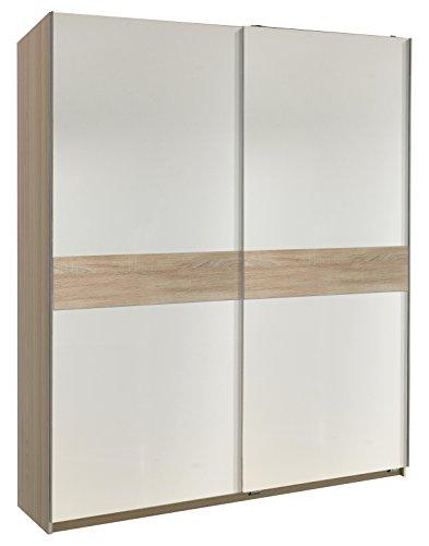 Wimex 205281 Schwebetürenschrank, Holz, alpinweiß, 60 x 167 x 190 cm
