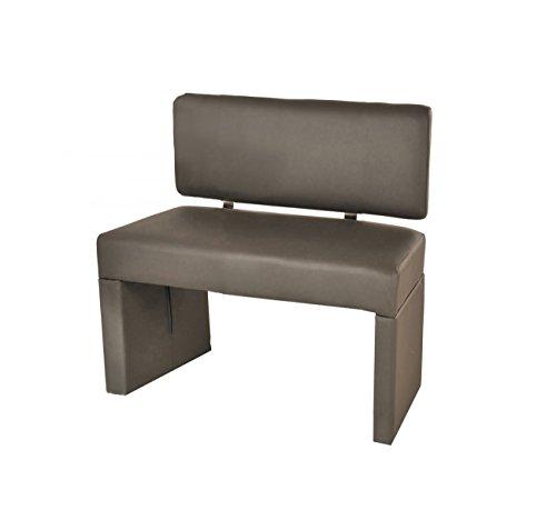 SAM® Esszimmer Sitzbank Sina, 80 cm, in muddy, Sitzbank mit Rückenlehne aus Samolux®-Bezug, angenehmer Sitzkomfort, frei im Raum aufstellbare Bank