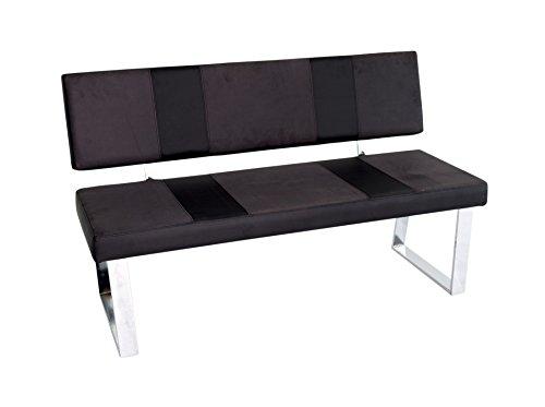 Reality Import Santa Bari Sitzbank, Lederimitat, schwarz, 140 x 58 x 85 cm