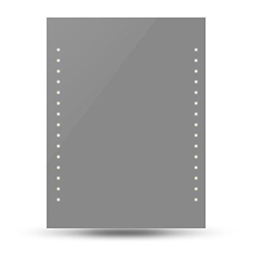 vidaXL Badspiegel Lichtspiegel LED Spiegel beleuchteter Wandspiegel 50x60 cm?LxH)240511