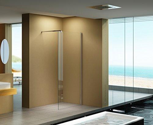 100x200 cm Duschabtrennung LILY Klarglas, Duschwand, Walk-In Dusche, 10 mm ESG Sicherheitsglas
