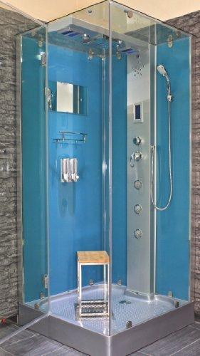 AcquaVapore DTP6038-3100L Dusche Duschtempel Komplett Duschkabine 90x90