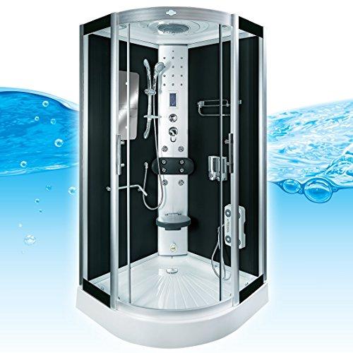 AcquaVapore DTP8046-2301 Dusche Duschtempel Komplett Duschkabine -Th. 100x100