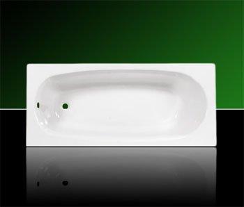 Acryl Badewanne Wanne Rechteck Rechteckwanne 140 x 70 inklusive Ablauf und Überlauf und Träger