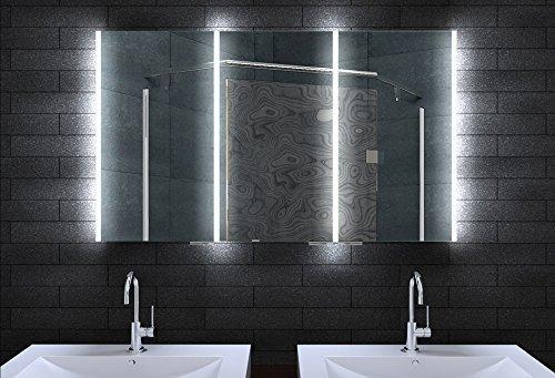 Alu Badschrank badezimmer spiegelschrank bad LED Beleuchtung 120x70cm MLA12700