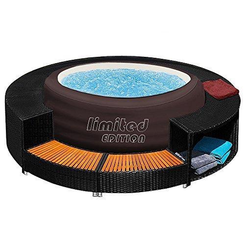 Bestway LAY-Z-SPA Jacuzzi Whirlpool + Poolumrandung Poolverkleidung Rahmen Pool