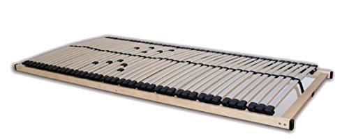 Betten ABC Lattenrost Superflex NV-MZV zur Selbstmontage / Lattenrahmen in 90 x 200 cm mit 42 Federholzleisten und 7-Zonen - geeignet für alle Matratzen