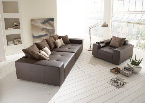 Big Leder Sofa mit Sessel – Made in Germany – Italienisches Leder - Freie Farbwahl ohne Aufpreis aus 26 Lederfarben – Nahezu jedes Sondermaß möglich! Sprechen Sie uns an. Info unter 05226-9845045 oder info@highlight-polstermoebel.de