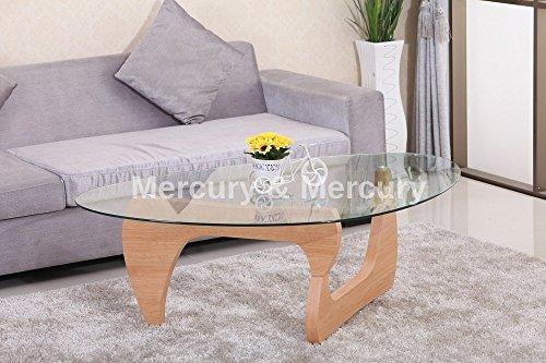 Designer Oval Triangle Form Glas Couchtisch Moderner Stil Kairo Möbel braun