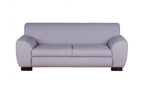 Dreams4Home Polstersofa, 3-Sitzer, 3er, 'Laurence', Webware, beige, Polstermöbel, Echtholzfüße, Couch