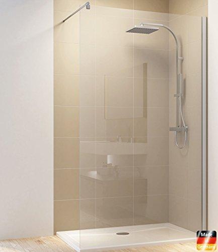 Dusche Duschkabine Walk In Duschwand Duschabtrennung Glas (1200 x 2000 mm, Klarglas )