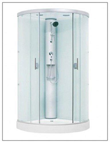 Aqualuxbad Duschkabine   Dampfdusche Dusche Rundumverglasung Sonderangebot aufbau ohne Silikon