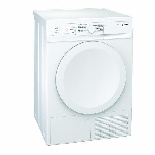Gorenje D 8450 N Wärmepumpentrockner / 8 kg / weiß / SensoCare / IonTech / Startzeitvorwahl (24 h) / Edelstahltrommel