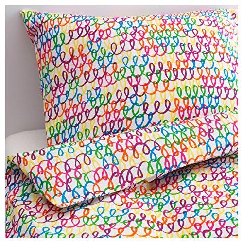 IKEA Bettwäsche Garnitur STICKAT in 4 Farben (bunt)