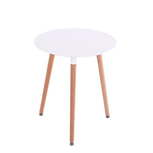 Inspiration Retro Tisch MDF rund 60 cm Durchmesser in Weiß