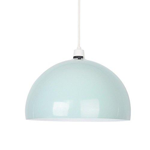 MiniSun – Kuppelförmiger und glänzender Lampenschirm aus minzgrünem und weißem Metall – für Hänge- und Pendelleuchte