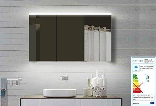 Lux-aqua Alu Badezimmerspiegelschrank mit Beleuchtung LED - YDC 120x70 cm